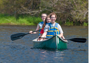 Canoeing on the Acushnet River